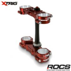 NEW Xtrig ROCS Pro Triple Clamp Set Yamaha YZ 250 2T 06-18 OS 25-23mm Bronze MX